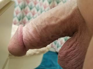 Hubby freshly shaved and getting in the shower. UMM can\'t wait til he gets out. I think I\'m going to suck it dry. I love that fat dick!
