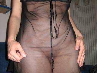 Incredibly sexy...  Love that sheer...