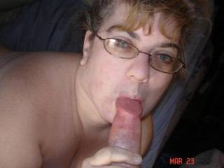 Sexy lady sucking cock....LOVE it!
