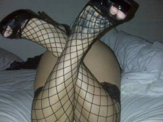 mmm, and looking very sexy in those stockings and heels too!!!