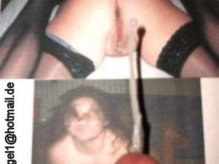 Cumming on a photo from a chat-girl...:) Hope you like it.  Comments please...;)