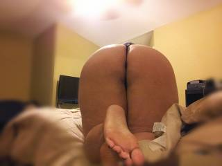 I am ready to put my legs on each side of your plump ass, pull your tight thong aside and drive my throbbing, thick manhood into you. I'm ready to spank you hard and not stop even if you ask me to. I'm ready to grab your hips and plow your ass to my heart's content. I'm ready to fill you with both my pride and my semen.  And I'm ready to repeat as many times as needed to make your legs give up under you, to make you drench yourself and the bed, to make you scream my name until your voice gives out, to make your eyes roll back into their sockets as you lose control of your body, from the sudden and constant surge of nerve-wracking orgasms.