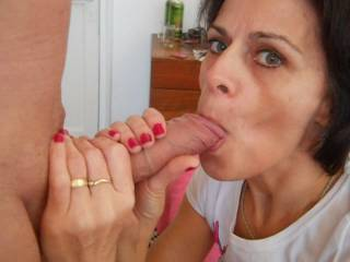 WOW!  She is amazing!!!!  Those lusty eyes say it all...  Love to have that mouth around my cock!!!   MMMmmmMMM