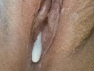 Let me lick that out for you and then I will refill your pussy and arse with some fresh cum