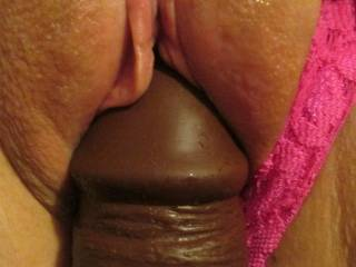 I will lick and fuck you but not with a toy but with the real throbbing cock and down load my Fresh, Thick and Gluey hot cum all inside you.