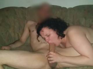 Nadja blows and sucks the big cock of her fuck buddy