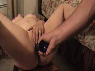 wife plays with her pussy and then fucks her favorite dildo. What a juicy pussy she gets mmmmmmmm