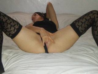 Getting my pussy ready for your hard cock