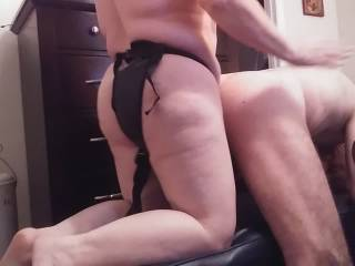 After slapping that lovely ass of my husband, I pound him hard from behind. Please check out my video of me taking care of my man's ass!