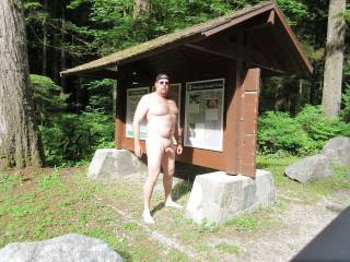 Hiking nude at a park in BC