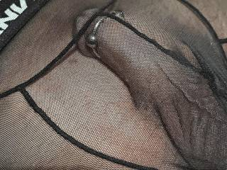 My new see through undies with cock ring