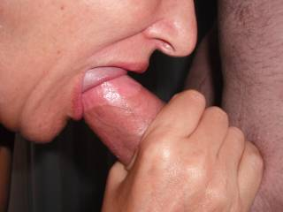 A beautiful shape and thickness.   I love sucking our swinger friend's nice cock