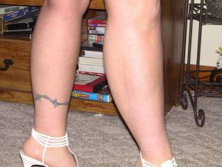 My wifes sexy legs and heels