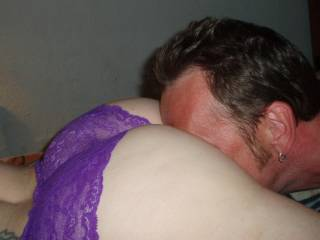 she loves it when i bury my face in her ass. her wet pussy and juicy undies smell and taste so sweet! ... she might let you find that out if you ask nicely.