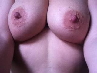 I would Love to Kiss, Lick and Suck on your Beautiful Breast and LARGE Aerola's. And if given the opportunity, I would Gladly Kneel between your Open Thighs and give you Oral SEX and have you CLIMAX in my Mouth several times before I quit. You can make this a REALITY for both of us.  Love and Kisses, Maryann