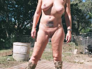 Just me out the back yard posing hope you like it our neighbors certainly did!!