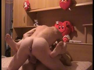 Thats a great position!  Nice and deep  love the sound of your balls slapping against her ass!  Awesaome!!