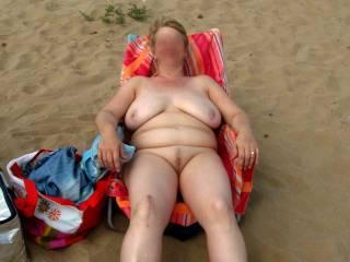 DD on a nudist beach in Spain