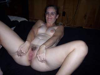 Thank you for sharing this exciting sight of your moist, sexy pussy hole! How would you like to squeeze my bare cock inside it and drain my balls of their warm, squirting sperm?!