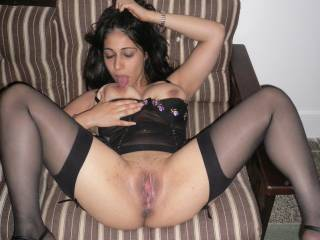 Damn!!!! that pussy looks tight and extremely wet... would love to penetrate her with my FAT BBC... BALLS DEEP!!!!