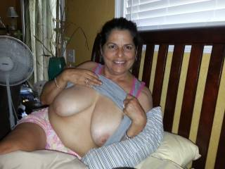 hot and sexy. Marvelous titties. She is a hot sexy Latin Wife. Great to see other latin wives. Got our vote. Hope you like ours. Mike and betty