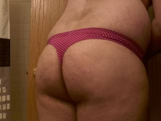 Please post more panty-ass shots! You have a lovely ass.