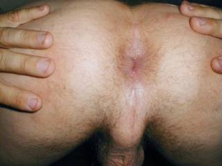 This is a picture of my asshole and base of the penis. It feels good to have a girl put pressure with her foot here while I masturbate.  I think by now you have had a complete tour of my whole body pretty much. Wow,  You  now have seen everything I have
