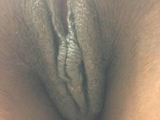 Pussy from the back with the hanging labia just yummy I hear!!