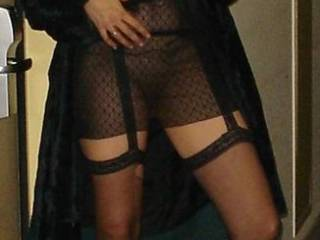 Oh my, out is great for me. Sweetie if I were there I would have to grab you in my arms and make passionate hot love (sex) to you. The way you look in that outfit would keep me hard for a long time.  Mmmmm you are delicious. Love this pic.  G