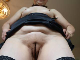 In my view one of the best pics I made of her. Look at her inviting granny cunt open for business 24/7 and still tight as on a young woman.And she can suck cock and swallows!