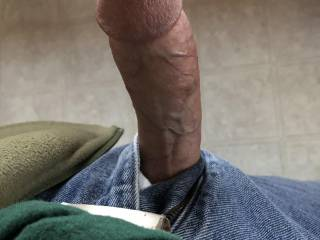 My cock is hard as a board. It needs some tender, loving hands and lips to beat the thick, creamy sauce out of it. There's probably enough for everyone! I do so love admiring my meaty hard cock. Do you?