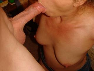 Sucking cock gets her so hot and horny