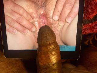 while her pussy is spread wide open and soaking wet, im gonna fuck it hard and deep mmmmmmmmm