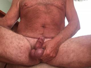 Love to squeeze my cock and balls