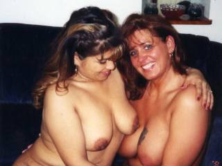 Mmmmmmm two lovely hot and sexy women with big tits to suck and fuck!! I wish I could fuck you while sucking on her big tits and then fuck her pussy while sucking on your big tits!!