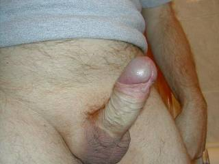 Ummmmmmmm.........I love your hard cock!!!!!!!  I love anal and your cock would be a great fit with my butt........  It has a great spaped head just made for sucking on...........I would work on that gorgous cock for as long asd you wanted meeeeeeee to!!!!!!!