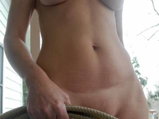 she is so hot.......you guys could hog tie me if you like..... :)