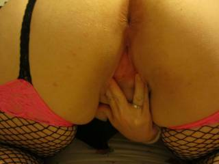 I am spreading my pussy ready for a sexy lady to lick me or a hard dick fuck me!!!!