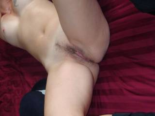 My brown cock would look soooo good in that tight little pussy