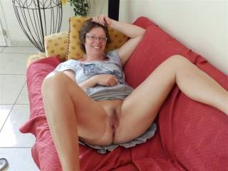 smilling face . open legs ....hot cunt ready. to be fucked . by 7 ......hard bites...............in front of your hubby