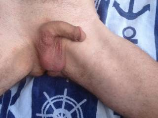 Mmmm can't beat a nice warm breeze blowing across your shaven balls mmmmm or a tongue or two mmmmm
