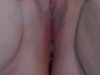 As his cock starts to swell I can feel my pussy start to get soaking wet.