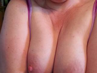 Would you look at that... my heavy milk filled tits just popped out at the dinner table!