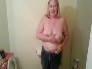 I love to watch a guys face when I start bouncing my floppy tits they love u