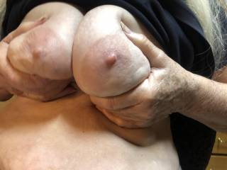 my wife teasing me as i jerked off for her