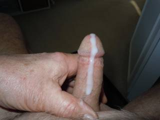 Mmmmm, that looks delicious...I'd lick it all up and keep sucking on your cock.  MILF K