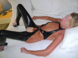 What you need is my long hard and now throbbing cock in between those luscious long legs of yours!!!