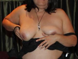 See my new bra...see me take off my new bra!