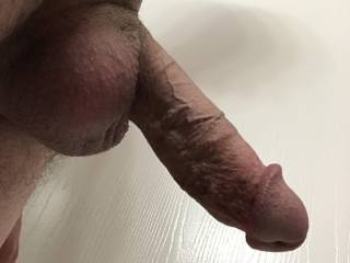 My swollen cock getting ready...