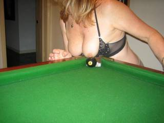I would shoot for those hot breasts, but it would be at pool...LOL